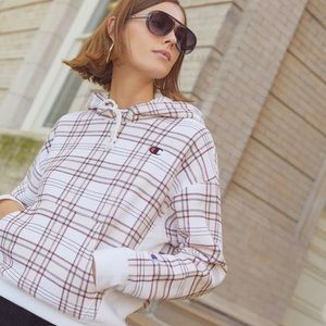 Urban Outfitters Champion Plaid Hoodie S